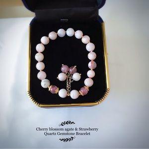 Cherry blossom agate & Strawberry Quartz  …
